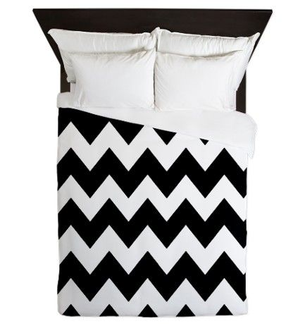 Black and White Chevron Bedding   black_and_white_chevron_queen_duvet.jpg?color=White&height=460&width ...