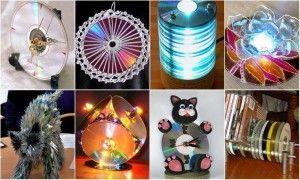 Для меломанов: Поделки из СD дисков для дома и для дачи своими руками (65 фото)