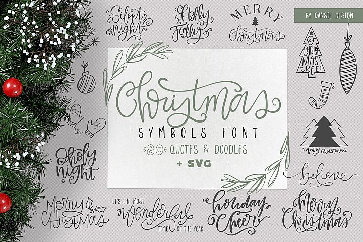 Christmas Symbols Font Volume 2 352999 Dingbats Font Bundles In 2020 Hand Lettered Christmas Christmas Fonts Symbols