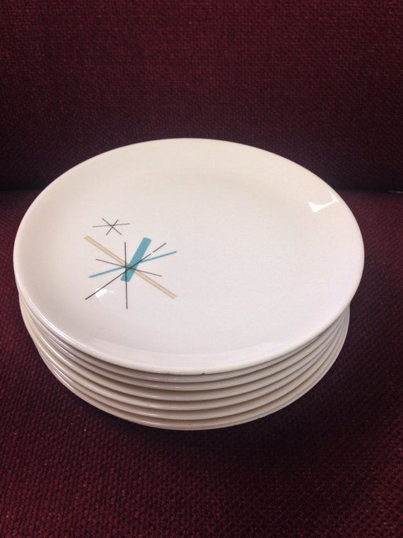 Rare Vintage Mid Century Salem North Star Atomic Plates & 47 best Dinnerware images on Pinterest | Dish sets Dishes and ...