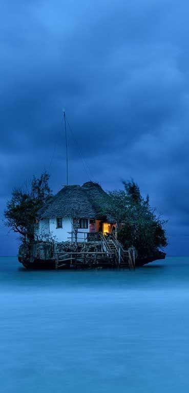 Rock Restaurant and bar, Indian Ocean - Zanzibar