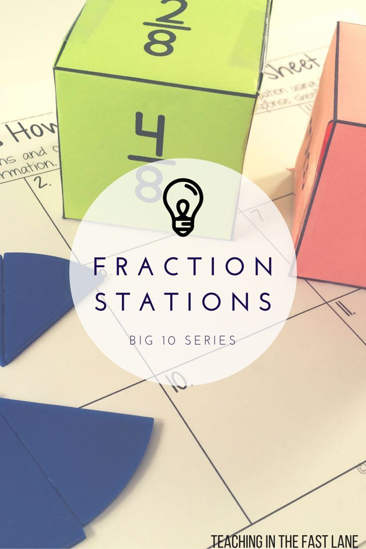 Ten ways to practice adding and subtracting fractions. This set of stations is a perfect tool for RTI, independent assessment, or partner practice.  My students just love these!