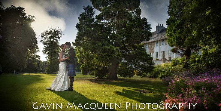 The Happy Couple on the grounds of the beautiful House for an Art Lover, Glasgow.
