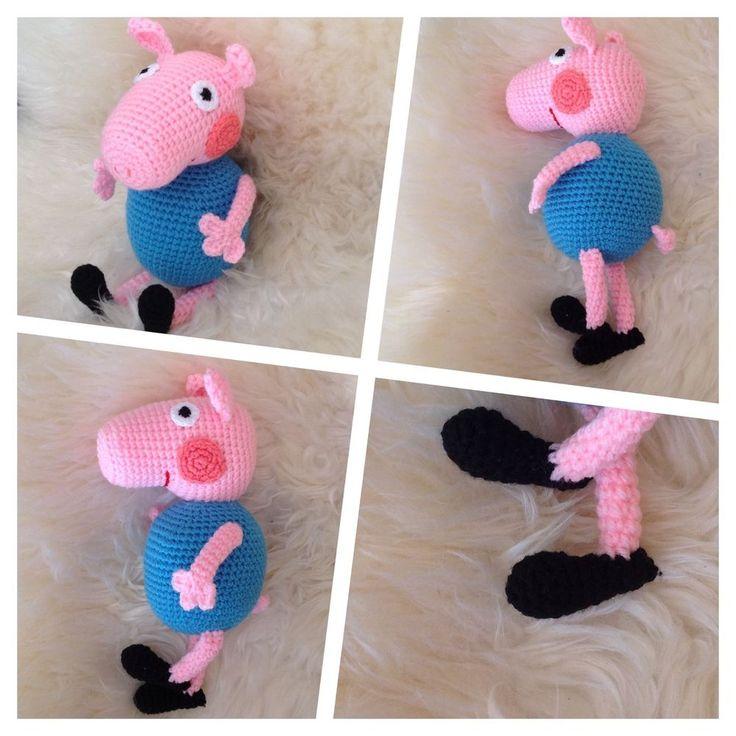 George Wutz Peppa Wutz Pig Spielzeug Kuscheltiere Häkeltier Amigurumi in Spielzeug, Film & Fernsehen, Sonstige   eBay