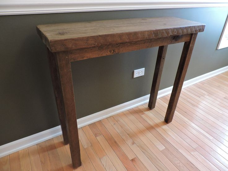 Barnwood Console Table Reclaimed Top And Legs Rustic Reclaimed Salvaged    EBay