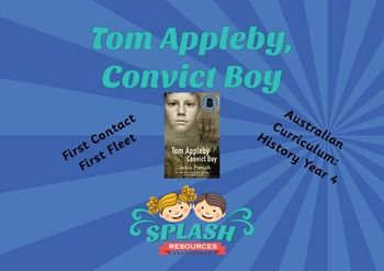 First Fleet Narrative Comprehension Worksheet for Tom Appleby, Convict Boy. Aligns with Australian Curriculum, Year 4 History Unit