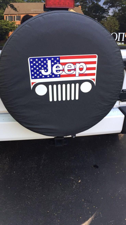 My jeep tire cover- American pride                                                                                                                                                                                 More