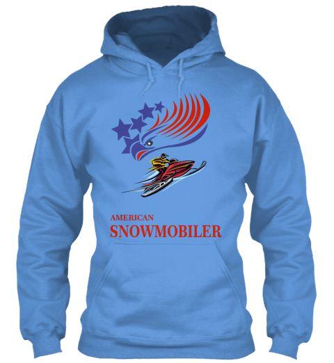 Snowmobiler Carolina Blue Sweater Lengan Panjang Front