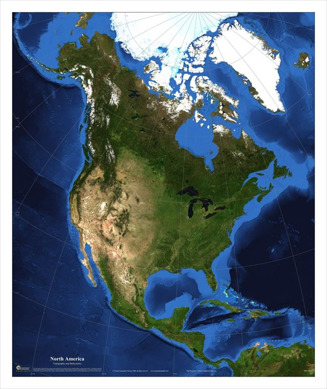 Best North America Images On Pinterest North America - World satellite map with countries