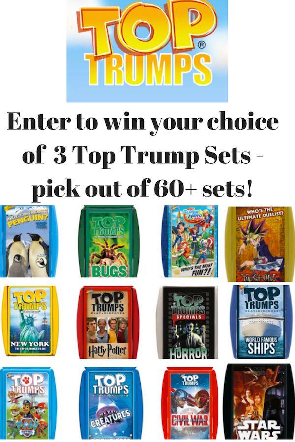 #Giveaway: Win 3 Top Trumps Decks (winner's choice) (Ends 10/6)