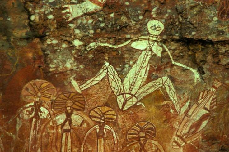 Aboriginal painting at Nourlangie Rock in Kakadu National Park. Image by Auscape / UIG / Getty Images