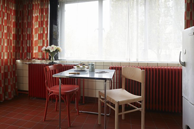 The Zuiderzeestoel chair designed by Richard Hutten in the Sonneveld House kitchen. Styling by San Ming