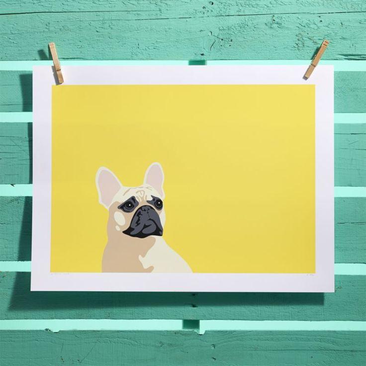 french bulldog screen print  | CB2
