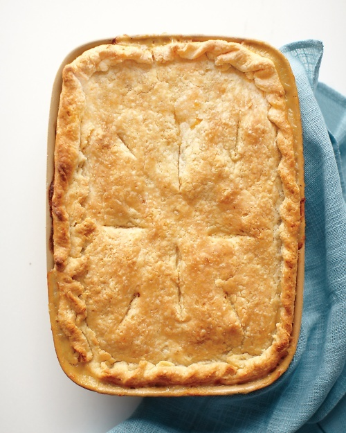 Got a fridge full of pastry, chicken, carrots and onions. Looks like it's gonna be tonight Classic Chicken Potpie - Martha Stewart Recipes