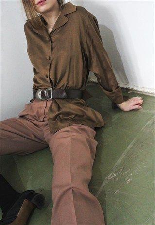 Brown Silk Shirt