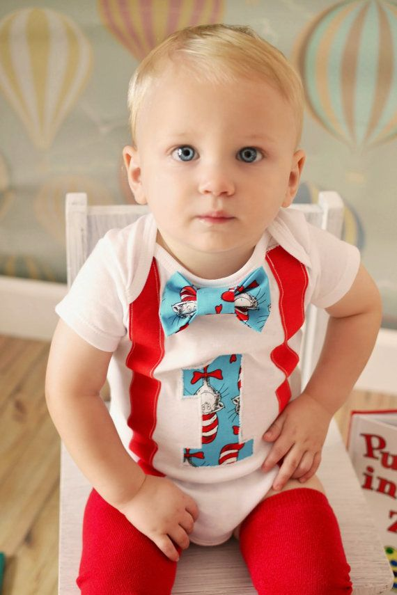 Dr.Suess First Birthday Bodysuit Boys First by MendingLifeTogether, $30.00