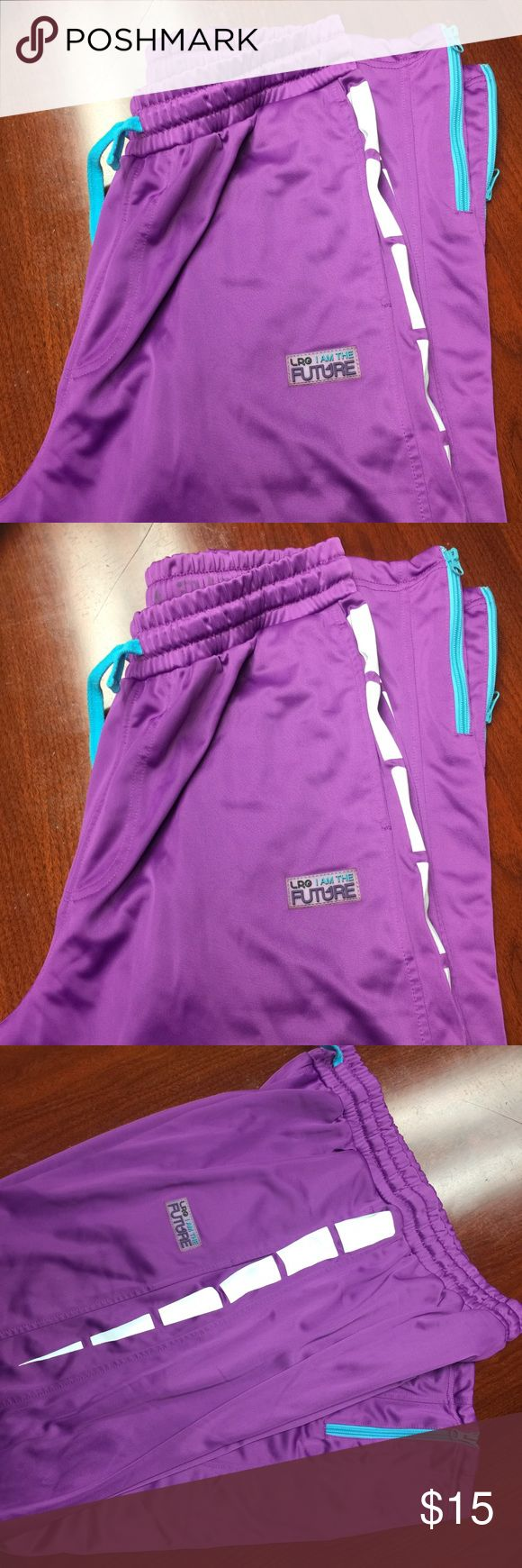 LGR Sweatpants For Men Purple Sweatpants for Men LRG , comfortable and warm ! Zipper in both legs bottom back LRG Pants Sweatpants & Joggers