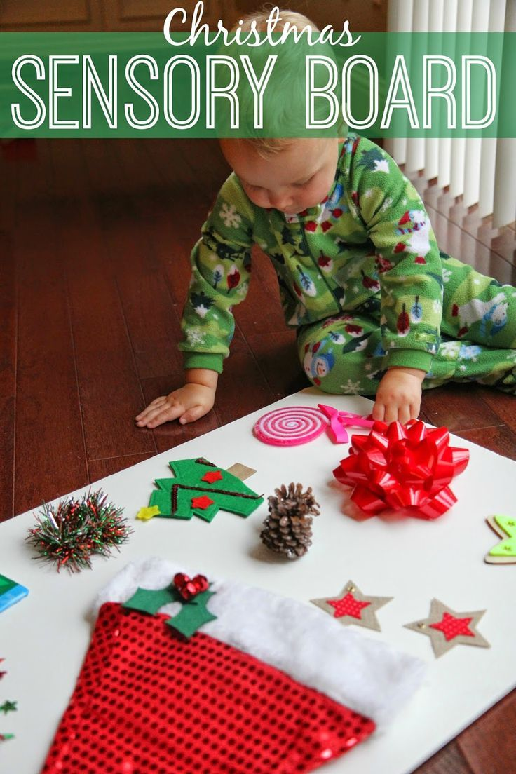 make a Christmas sensory board for kids - a fun way for toddlers and preschoolers to experience the sights and sounds of the holidays! (scheduled via http://www.tailwindapp.com?utm_source=pinterest&utm_medium=twpin&utm_content=post359157&utm_campaign=scheduler_attribution)