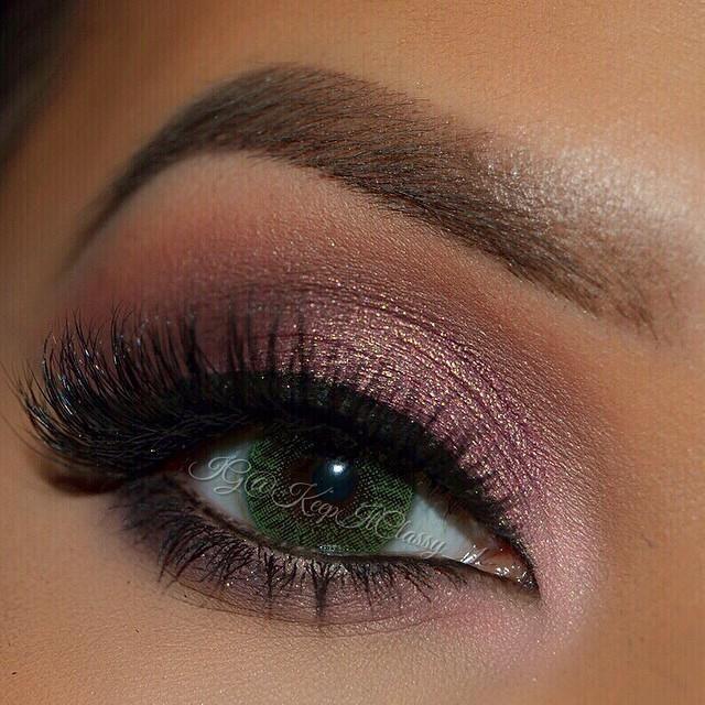 Purple Glitter Eyeshadow.