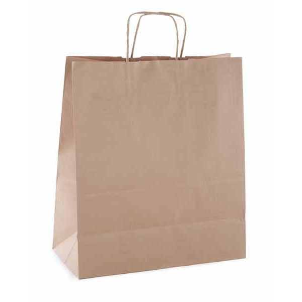 Comprar Paquete de 50 Bolsas Kraft Marrón 24 x 11 x 31cm Apli 101645  #logistica #envio #emboltorios #bolsas #papel #kraft #colores #marrón