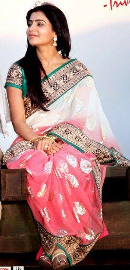 Samantha saree | my | Pinterest | Samantha ruth and Saree