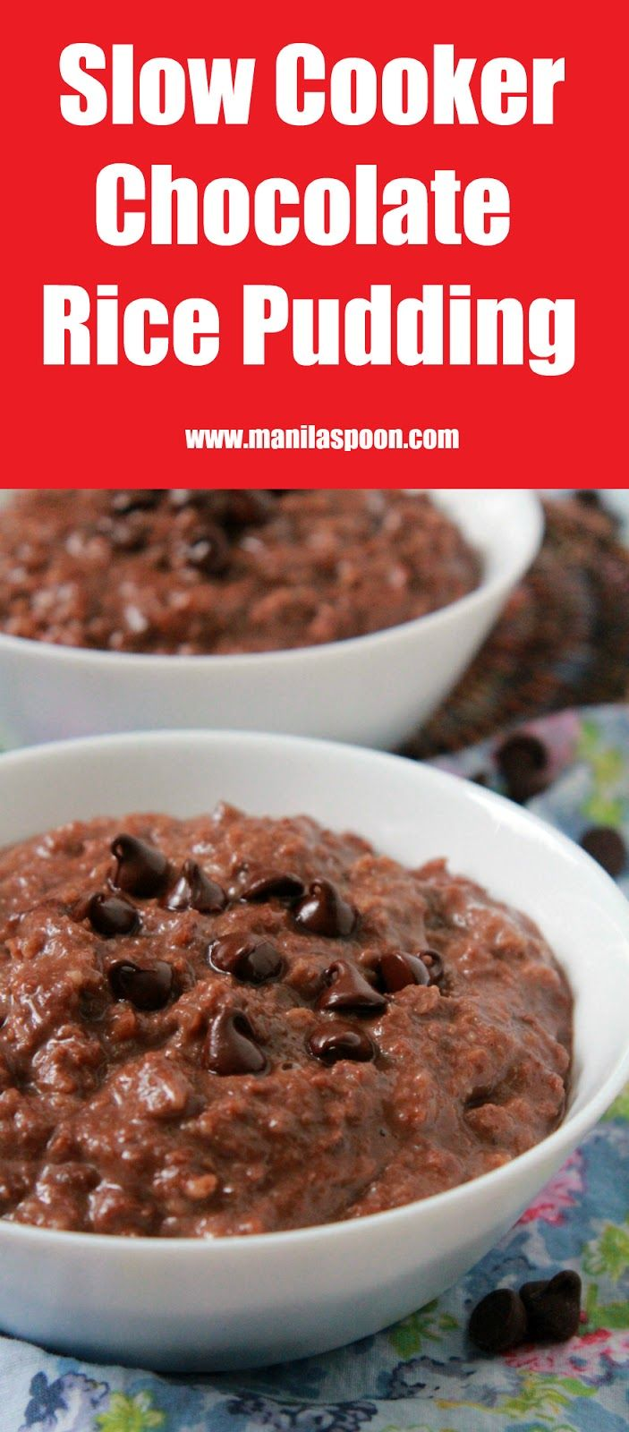 Sticky rice cooked in coconut milk and chocolate. This chocolate rice pudding is the ultimate breakfast sweet treat or when served with ice cream - a truly yummy dessert - Champorado!