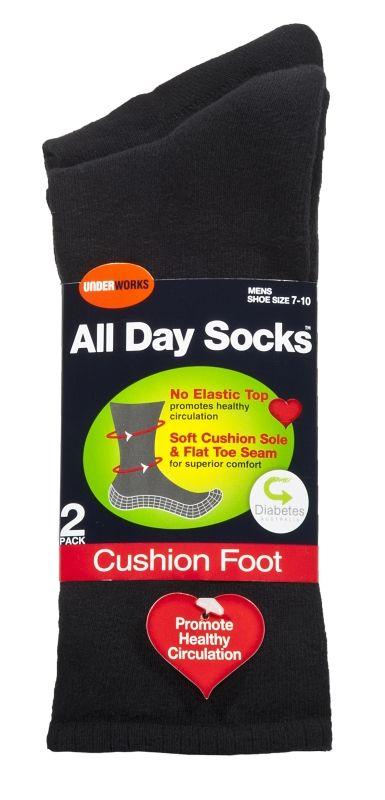 2 pack Men's All day cushion socks