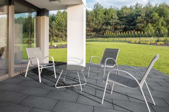 Fürstentum Grande Solo - Terrassenplatten von Kortmann Beton #kortmannbeton #terrasse #design