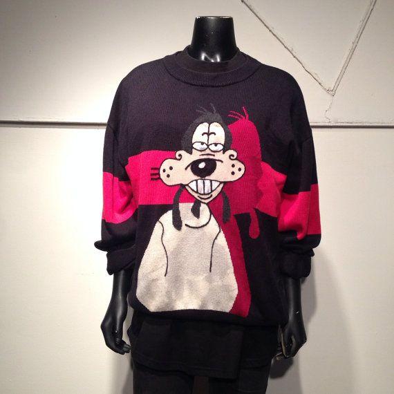90s Vintage Iceberg History Jeans Goofy Sweater L