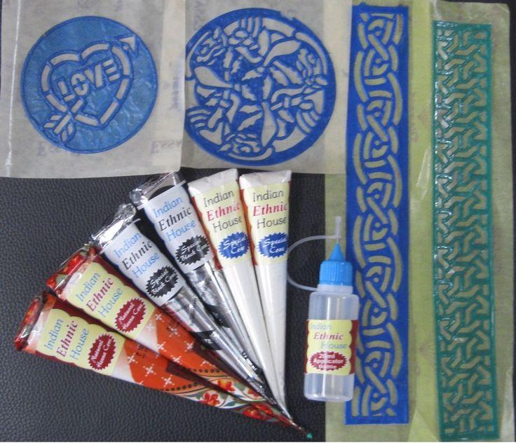 Harga Henna Tattoo Kit: White Henna Cones Temporary Tattoo Kit Body Art Mehandi