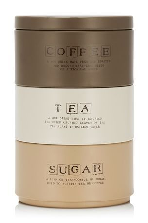 17 best images about tea coffee sugar tins on pinterest set of coffee tea and canister sets - Tea coffee sugar stacking canisters ...