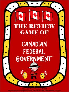 This is a 5 page Review Game of the Canadian Federal Government. It is meant to be a fun activity to allow the students to review for a test or to show what they have learned. Included you will find a coloured game board, a black and white game board which your