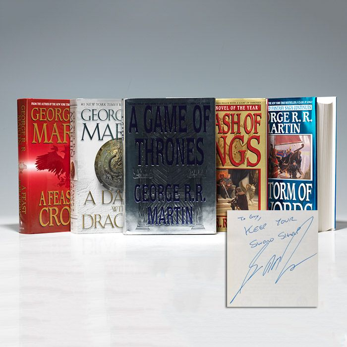 George Martin - Song of Ice and Fire (i.e., Game of Thrones: Set of 5 novels) - First Edition - Signed | Bauman Rare Books