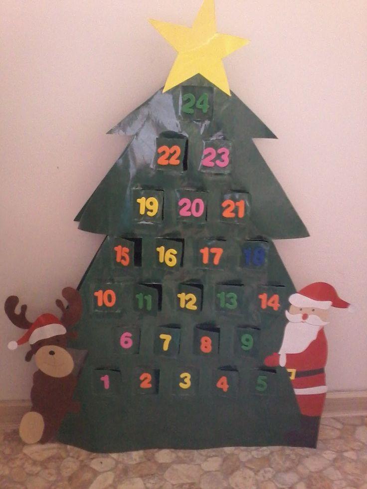 Süti és más...Fenyőfa adventi naptár DIY