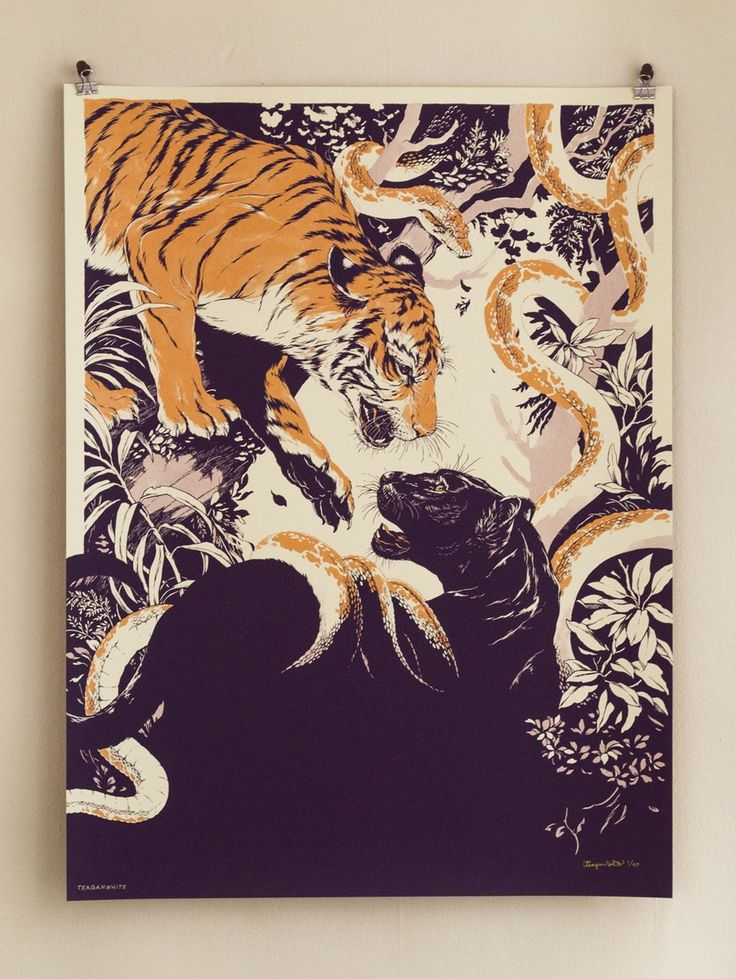 teaganwhite — Strike First and Then Give Tongue (Law of the Jungle) Art Print - Purple