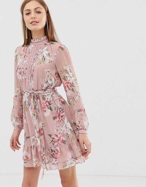 a618cf5d211 Forever New long sleeve printed pin tuck dress in 2019