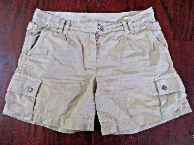 Womens J Crew Chino Broken In City Fit Classic Twill Cargo Tan Shorts Size 4  #JCrew #Chino