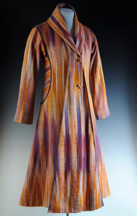 Wildfires Coat/Dress handwoven Daryl Lancaster 2012