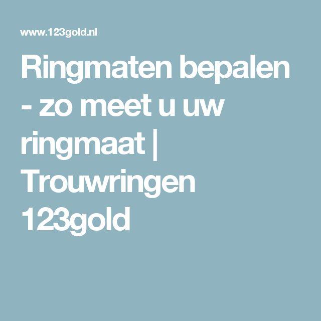 Ringmaten bepalen - zo meet u uw ringmaat | Trouwringen 123gold