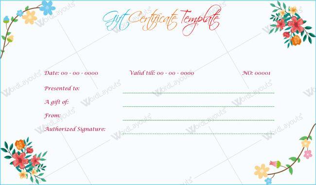 Tattoo Shop Gift Certificate Template Gift Certificate Card