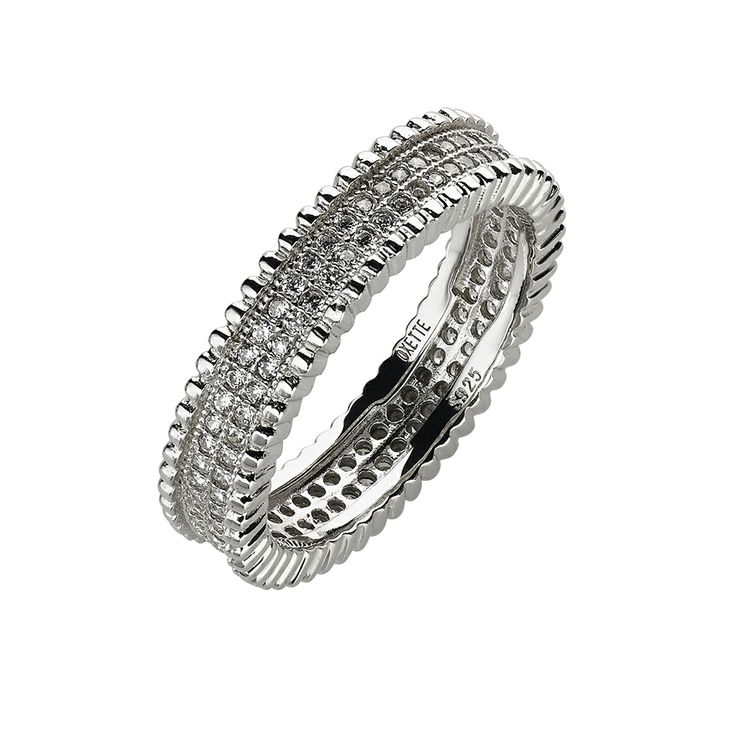 Oxette Sterling Silver 925 Ring with zircons - Available herehttp://www.oxette.gr/kosmimata/daktulidia/silver-ring-wint-cz-oxette-634l-1/    #oxette #OXETTEring #jewellery