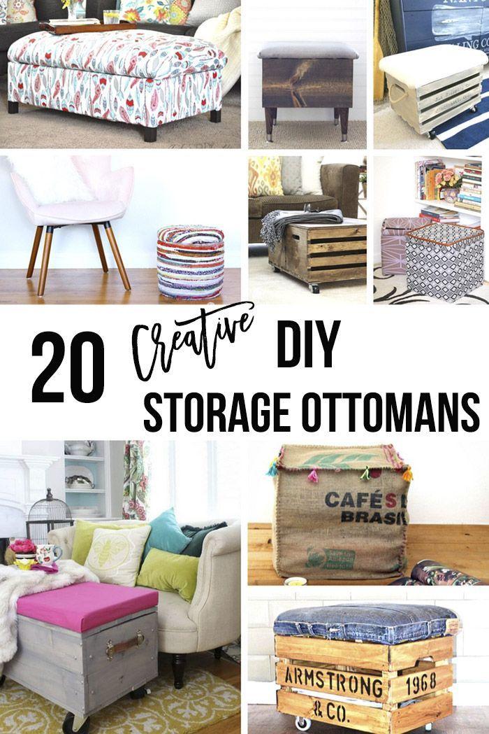 20 Diy Storage Ottoman Ideas For Every Skill Or Budget Diy