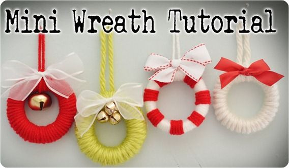 Mini wreaths made from shower curtain rings (this links to a Centsational Girl post with lots of CCD ideas)