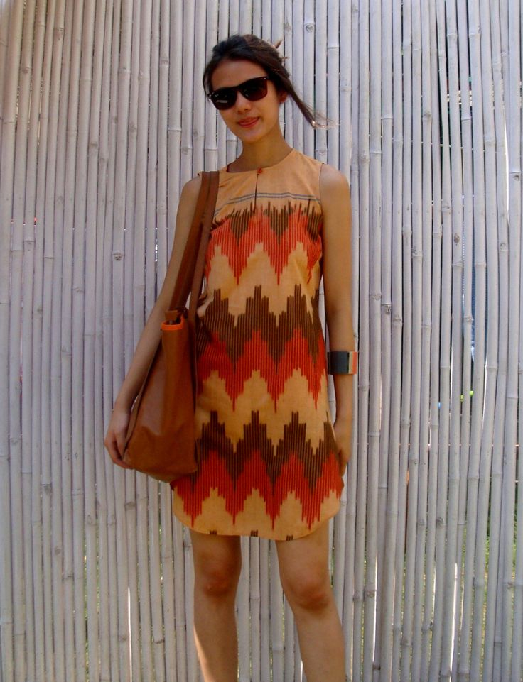 Ikat Dress by FAYAKUN on Etsy