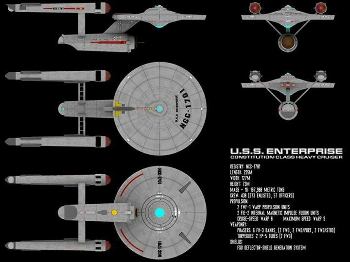 star trek u s s enterprise constitution class design blueprints sci fi fantasy horror. Black Bedroom Furniture Sets. Home Design Ideas