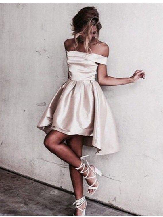 78 best Cocktailkleider images on Pinterest  Shoulder Formal dress and Short homecoming dresses
