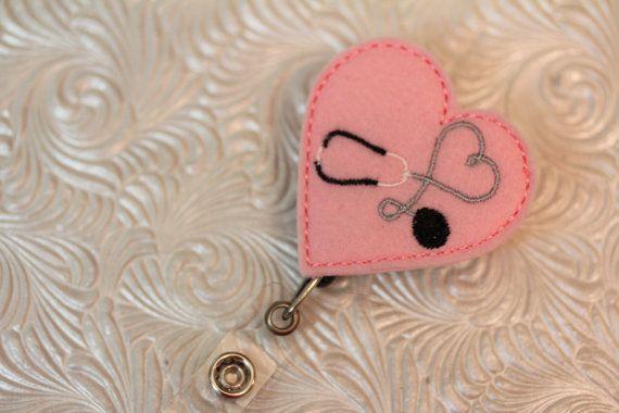 nursing hearts  professional nurse badge holder  by DefinitelyYou, $6.25