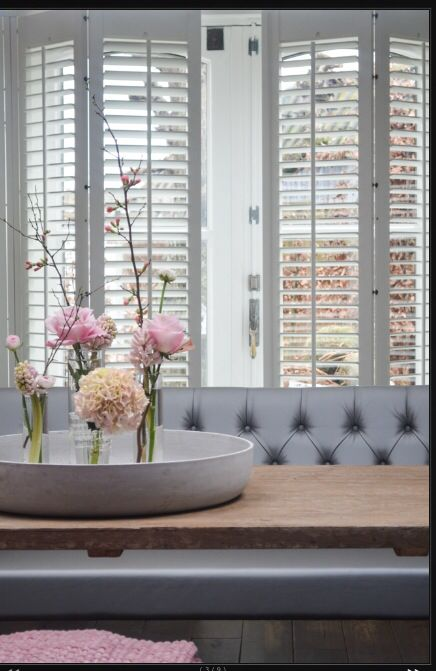 Love the look of these shutters, a great mix for modern decor