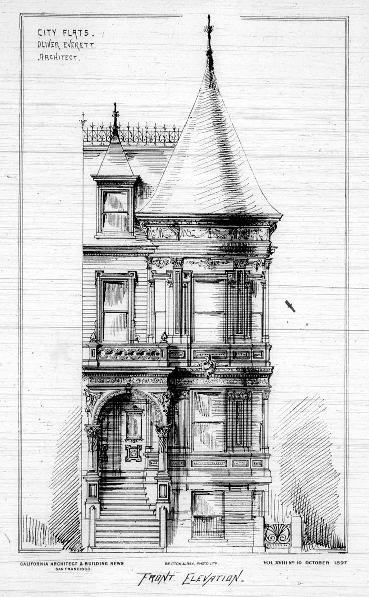 Elevation of a private residence, San Francisco