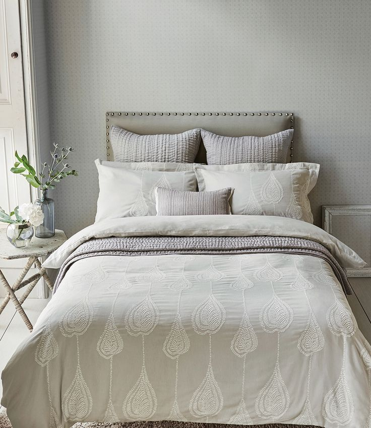 Treat Yourself To A Touch Of Luxury With Gorgeous Super King Size Duvet Cover Featuring Beautiful Embroidered Detailing This Lovely Bedding Co Ordinates